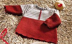 Heft extra Merino 100% 3 Herbst / Winter | 25: Baby Kleid | Rubinrot…