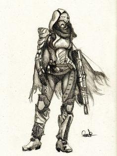 Guardian of Destiny - Female Hunter by Granados101 on DeviantArt