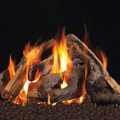 RH- Woodstack Fire Pit Logs Gas Fire Logs, Wood Burning Fires, Gas Fires, Fireplace Vent, Vented Gas Fireplace, Fireplaces, Gas Log Burner, Garage Apartment Floor Plans, 1 Real