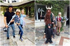 Wayne's World and How to Train Your Dragon - Padackles family Halloween 2015 <3
