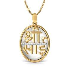 Shree Sai 0.11 Ct Natural Diamond Solid Yellow Gold Certified Religious Pendant Festive #khannajewels #pendant #diamondpendant #diamondgoldpendant #diamondsaipendant #sairampendant #religiouspendant