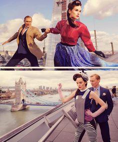 Tom Hiddleston and Michelle Dockery