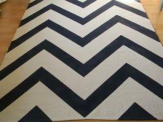 DIY: Paso a paso para hacerte una alfombra CHEVRON