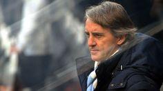 Roberto Mancini dugout v Newcastle