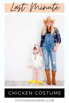 Farm Costumes, Farm Animal Costumes, Crazy Costumes, Family Costumes, Diy Toddler Halloween Costumes, Farmer Halloween Costume, Last Minute Halloween Costumes, Halloween Ideas, Baby Chicken Costume