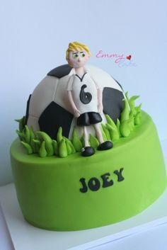 soccer cake By prettygem on CakeCentral.com