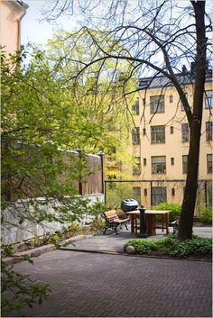 backyard in Helsinki, Finland