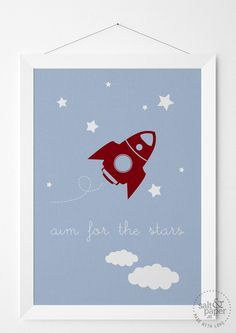 aim for the stars by saltandpaper.at