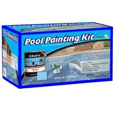 Insl-X Waterborne 1 gal. Ocean Blue Swimming Pool Paint Kit with Cleaner and Instructional - The Home Depot