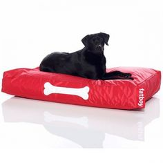 Ein Himmelbett für Hunde! Fatboy Hundekissen Doggielounge Rot (Groß)