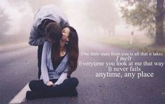 Share this sweet romance quote with your boyfriend or girlfriend and let them know you love how they look at you with great passion. Let them know you& thinking about them! Romantic Quotes For Girlfriend, Love Quotes For Girlfriend, Wife Quotes, Love Quotes For Her, Best Love Quotes, Famous Quotes, Favorite Quotes, Couple Quotes, Crush Quotes