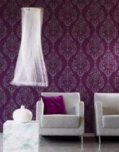 barok behang vlies paars 33 Curtains, Shower, Bedroom, Wallpaper, Rain Shower Heads, Blinds, Wallpapers, Showers, Bedrooms