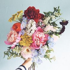 Colorful vintage flower bouquet