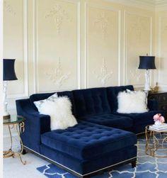 25 Stunning Living Rooms With Blue Velvet Sofas | Blue Velvet Sofa, Blue  Velvet And Cyanotype