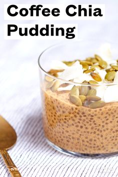 Perk up your morning or afternoon with a bite of chia pudding infused with bold coffee and rich macadamia milk. Make it ahead! Perk up your morning or afternoon with a bite of chia pudding infused with bold coffee and rich macadamia milk. Make it ahead! Keto Chia Pudding, Mango Chia Pudding, Coconut Chia Seed Pudding, Overnight Chia Pudding, Chocolate Chia Seed Pudding, Vanilla Chia Pudding, Pudding Recipes, Overnight Oats, Chia Pudding With Milk