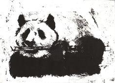 8 x 11 inches / Litho print Panda Art, Litho Print, Art Work, Moose Art, Printing, Fine Art, Animals, Artwork, Animais