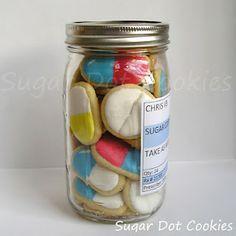 Get Well Soon, Pill bottle of sugar cookies. A cute get-better-soon gift!