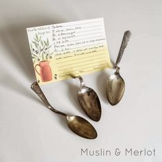 Thiese creative cards holders are handy when you're trying grandma's recipes for the first time. And they look cute on your counter when you're not cooking, too. Get the tutorial at Muslin & Merlot »   - CountryLiving.com