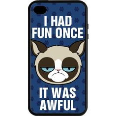 I had fun once. I think it was back in 2002 when someone slipped a Micky in my milk saucer. Deck out your iPhone with this sweet grumpy cat design. You'll be the coolest cat around. Funny Phone Cases, Iphone Cases, Kindle Case, Laptop Covers, Grumpy Cat, Cat Design, When Someone, Cool Cats, Ipod