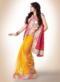Magical Look Half And Half #Saree