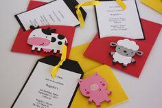 Farm Animals Birthday Party Invitations by yadyscreations on Etsy, $20.00