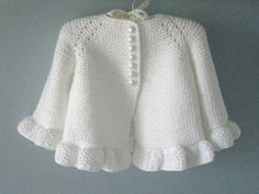 Knitted Pattern Baby Jacket Baby Cardigan Garter Stitch Knitted Pattern Baby Jacket Newborn Girl Coat Cardigan Baby PATTERN - Diy and craft Crochet Baby Cardigan, Crochet Jacket, Cardigan Pattern, Jacket Pattern, Booties Crochet, Knit Crochet, Crochet Hats, Baby Girl Jackets, Baby Girl Patterns