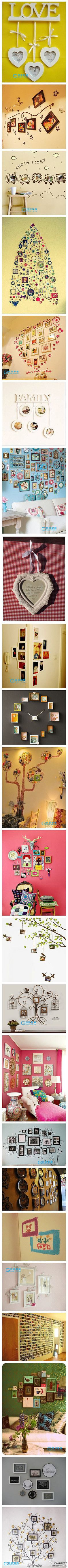 Home Sweet Hom Picture Display Photos Ideas Photo Deco, Deco Design, Do It Yourself Home, Home And Deco, Creative Photos, Photo Displays, Display Photos, Diy Wall Art, Picture Wall