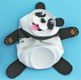 Haha! ...this tin is really *altered*!! This soda can panda would be a cute kids craft !