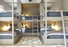 43 Who Is Worried About Lakehouse Decor Lake Cottages Guest Rooms And Why You Should Pay Attention 108 Bunk Bed Rooms, Bunk Beds Built In, Cool Bunk Beds, Bunk Bed Wall, Custom Bunk Beds, Best Bunk Beds, Built In Beds For Kids, Corner Bunk Beds, Queen Bunk Beds