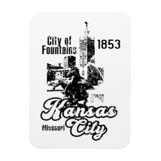 Kansas City Magnet - retro gifts style cyo diy special idea