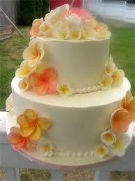 Plumeria Wedding Cake