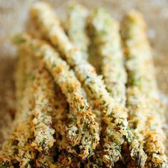 Baked Asparagus Fries Recipe Side Dishes with panko, grated parmesan cheese, kosher salt, ground black pepper, asparagus, all-purpose flour, large eggs