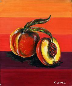 Peaches, fruit, still life, tempera, Artist, Original Painting Art, Illustration #IllustrationArt  Natalia Komisarova   NatalieStorePainting     You can also find me on:    EBAY: http://www.ebay.com/usr/natalie_komisarova.art    ETSY: https://www.etsy.com/shop/NatalieStorePainting    FACEBOOK: https://www.facebook.com/komisarova.art    #NataliePaintings #Natalie #Artist
