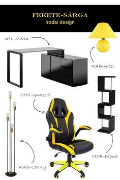 Ma a sportos iroda és dolgozószoba kedvelőinek hoztunk egy szuper berendezési ötletet! Ha szereted a feltűnő és tekintélyt parancsoló környezetet, akkor ez neked való! #iroda#office#dolgozószoba#workroom#irodaidesign#officedesign#officedesignideas#ideas#ötlet#desk#íróasztal#lámpa#lamp#gamerchair#chair#gamerszék#forgószék#polc#shelf Ravenna, Office, Gaming Chair, Modern, Furniture, Home Decor, Trendy Tree, Decoration Home, Room Decor