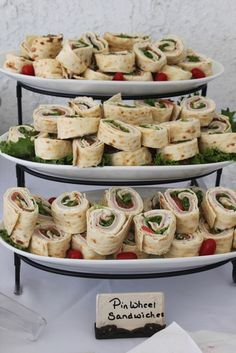 baby shower or other food~~ pinwheel sandwich