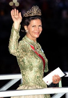Queen Silvia of Sweden--met her and King Gustav when I was in 5th grade. They were so nice and I was so star-struck.