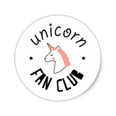 Shop Unicorn Fan Club Stickers created by DoMakeFindCreate. Unicorn Birthday, Unicorn Party, Unicorn Club, The Last Unicorn, Magical Unicorn, Tumblr Stickers, Cute Stickers, Wallpaper Stickers, Wallpaper Backgrounds