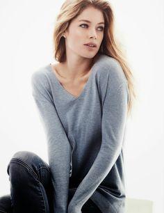 Doutzen Kroes for H&M Basics Lookbook Fall 2013