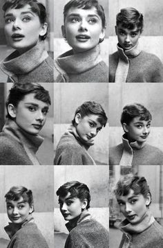 Audrey Hepburn / Born: Audrey Kathleen Ruston, May 1929 in Ixelles, Belgium / Died: January 1993 (age in Tolochenaz, Switzerland Classic Hollywood, Old Hollywood, Isabel Lucas, Audrey Hepburn Style, Audrey Hepburn Photos, Audrey Hepburn Bangs, Facial Expressions, Happy Girls, Retro