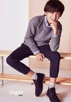 """Brandon from Sugar Kids for Massimo Dutti """"Back to School"""" collection."""