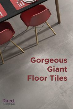 Giant tiles are all the rage, and we've got one seriously great collection of them in-store now! They're great for covering a large area with minimal lines and grout.