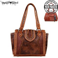 Montana West Trinity Ranch Tooled Design Collection Handbag (TR32G-8250)