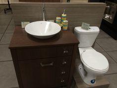 Otra idea de u moderno mueble de baño. Además ,  Tandor ofrece inodoros y lavamanos  de la reconocida marca FV