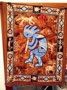 Very hard to find, grabbed it! :) Kokopelli Kachina Native American by BearsBlanketsQuilts on Etsy