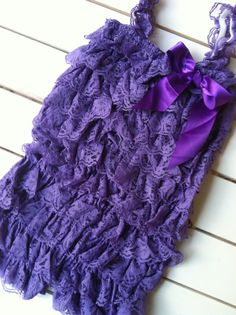 Deep Lavender Petti Lace Romper by BetterThanBows on Etsy, $18.95
