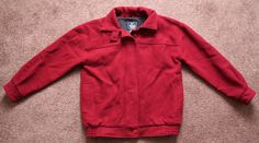 Vintage WOOLRICH Red Burgundy Coat Women's Small Zip Front 100% Wool Fully Lined #Woolrich #BasicCoat