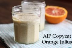 AIP Copycat Orange Julius| Joy-filled Nourishment. No idea what an orange julius is, but this looks a yummy way of adding collagen into your diet easily. Try other flavours if you can't do citrus.