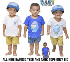 June Summer Promo- All kids bamboo tees and Tanks only $10