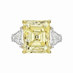 Betteridge 8.21 Carat Fancy Yellow Diamond Ring