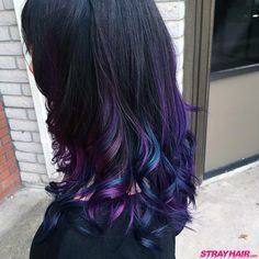magical oil slick like hair color